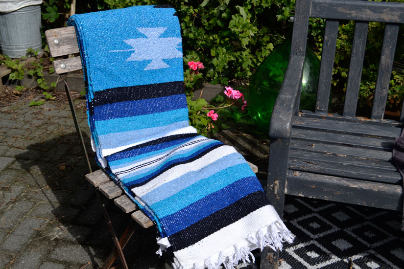 Mexican blanket - indian - L - Turquoise - EEEZZ1DGturq