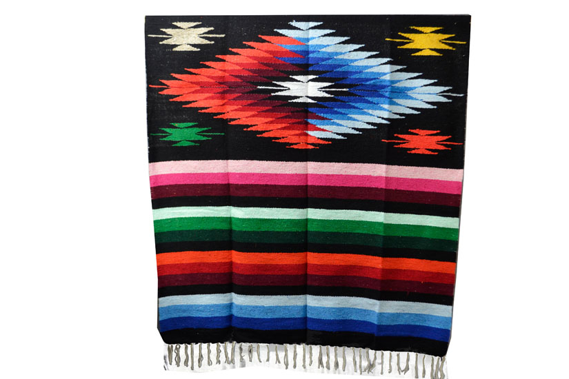 Mexican blanket - indian - L - Black - EEXZZ0DGblack