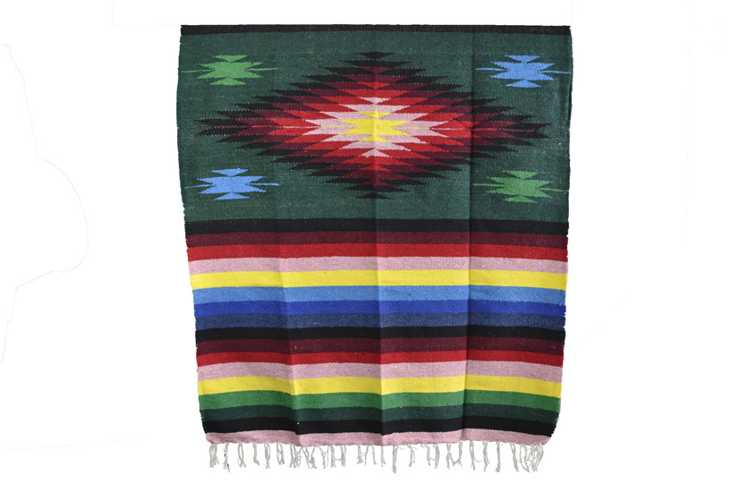 Mexican blanket - indian - L - Green - EEXZZ0DGgreen