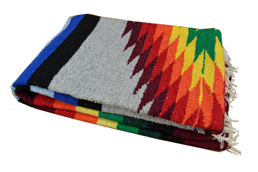 Mexican blanket - indian - L - Grey