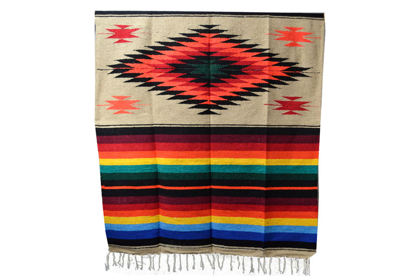 Mexican blanket - indian - L - Brown - EEXZZ0DGlightbrown