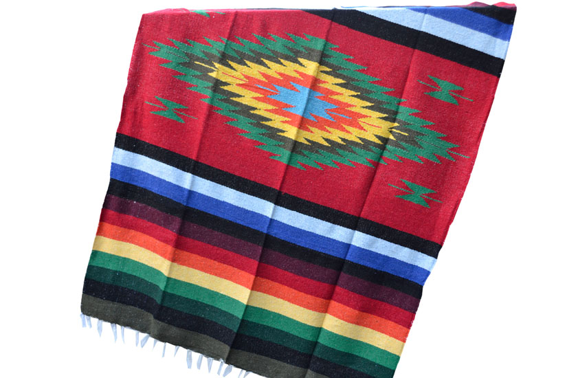Mexican blanket - indian - L - Red