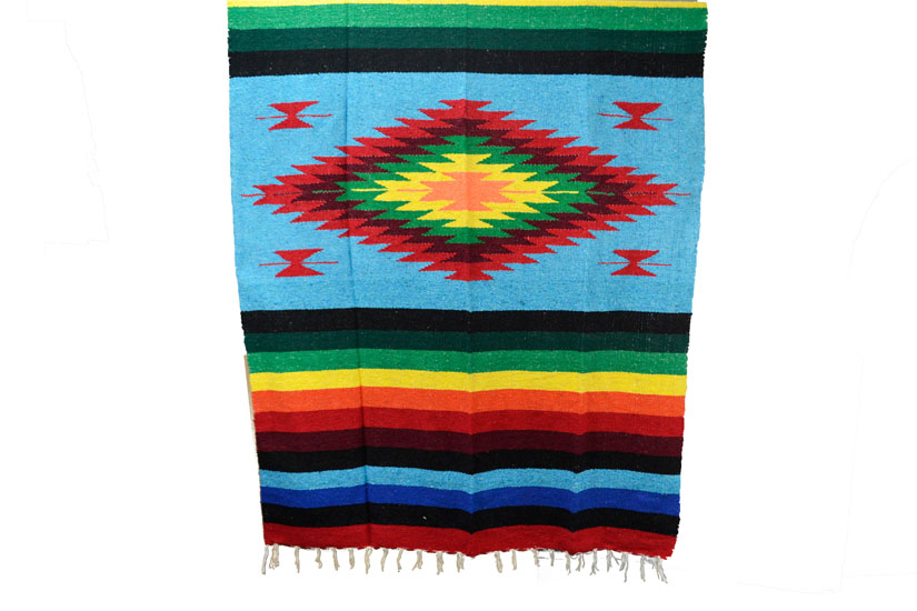 Mexican blanket - indian - L - Turquoise