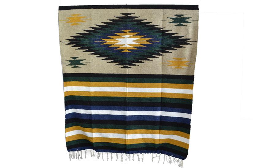 Mexikanische Decke -  Indianer - L - Naturlich  - EEXZZ1DGbeigeyellow