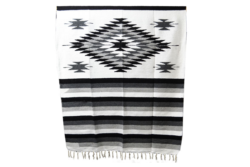 Mexican blanket - indian - L - White