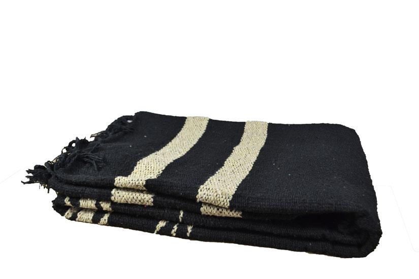 Mexican blanket - indian - L - Black - EEXZZ2DGblack