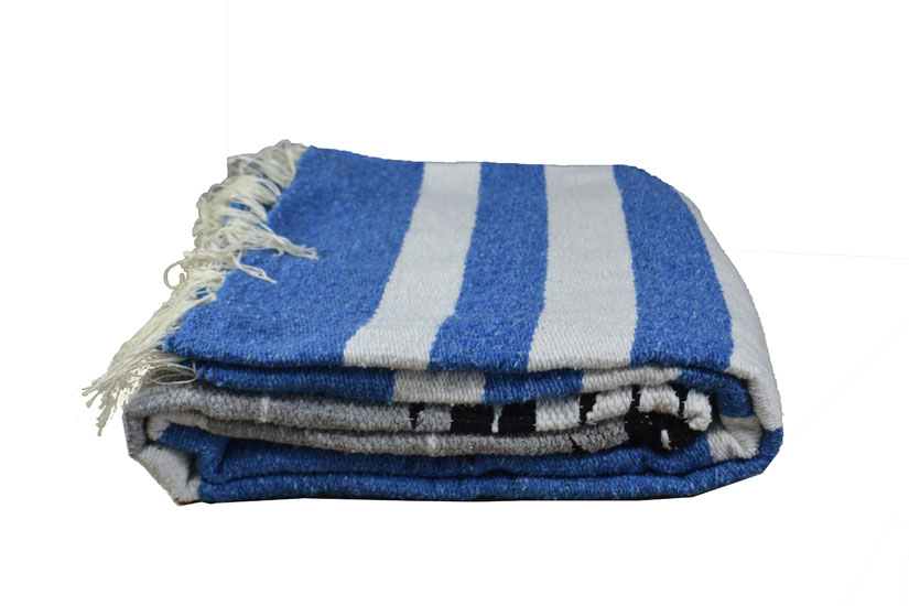 Mexican blanket - indian - L - Blue - EEXZZ2DGgreyblu