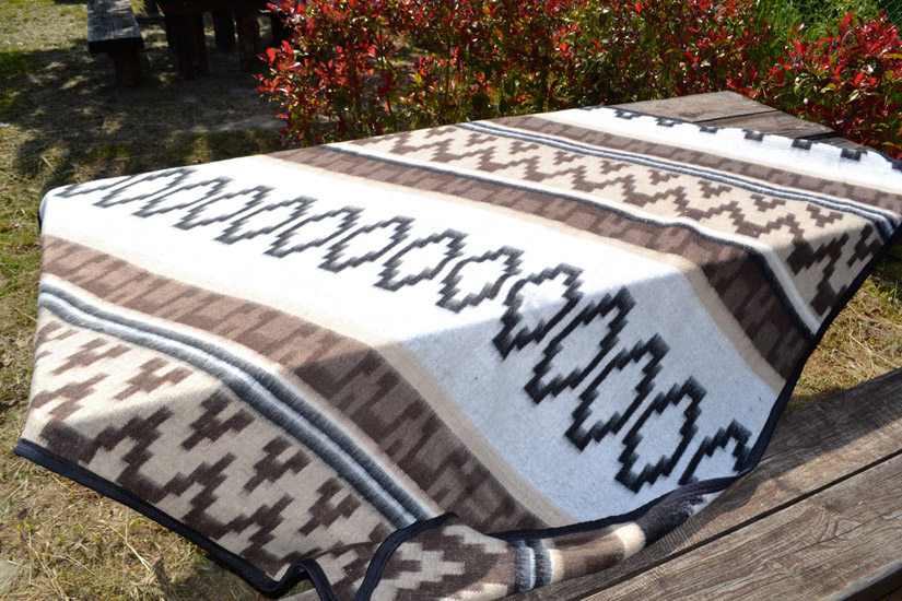 Mexican blanket - Western - XL - Brown