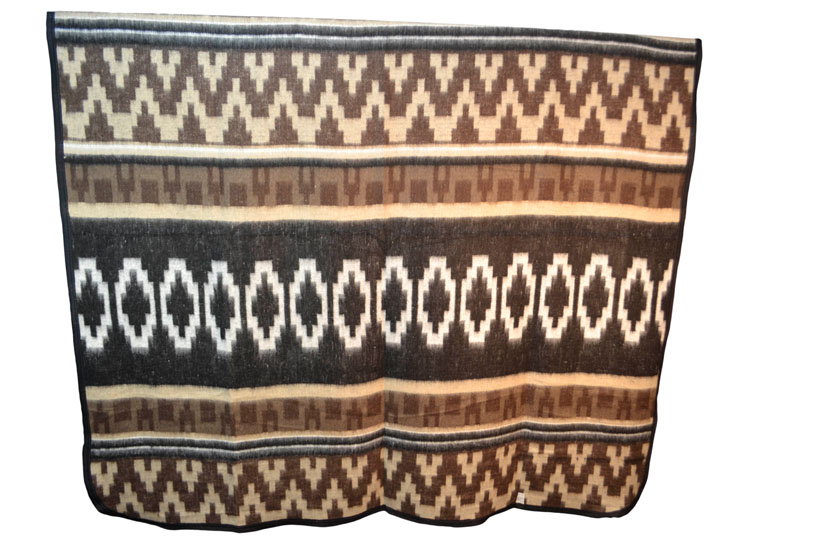Couverture mexicaine -  Western - XL - Brun
