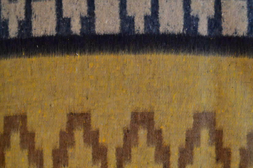 Mexican blanket,Indian. Yellow