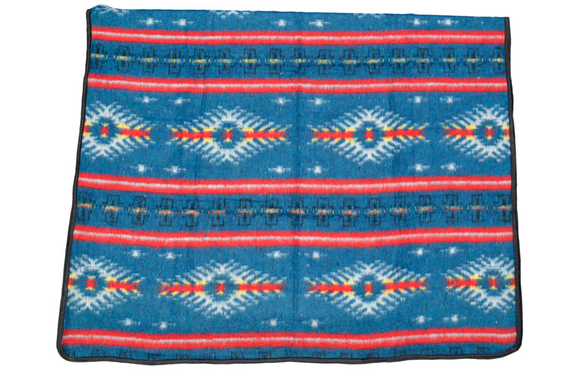 Mexicaanse deken - Western - XXL - Blauw