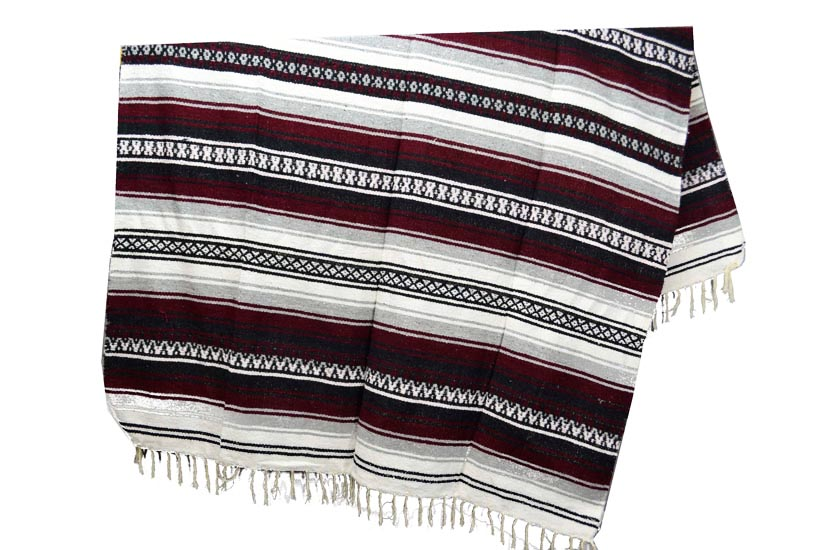 Couverture mexicaine -  Falsa - XL - Brun - KXOZZ0burgundy