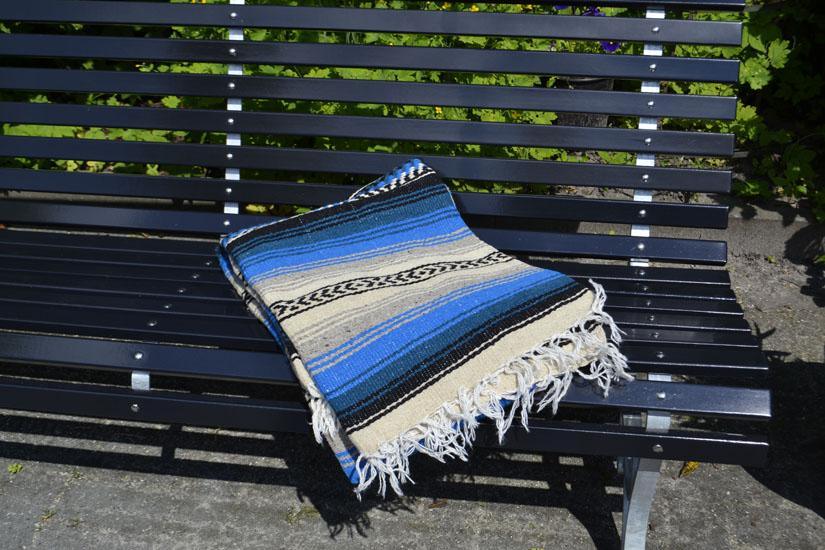 Couverture mexicaine -  Falsa - XL - Gris - LHGZZ0blu
