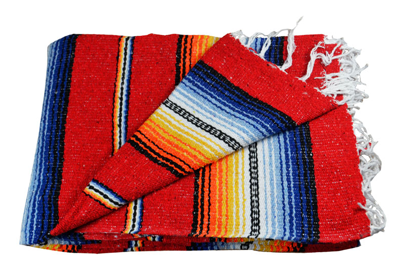 Couverture mexicaine -  Falsa - XL - Rouge