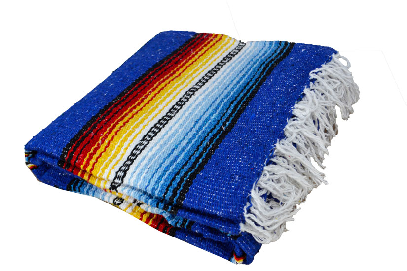 Couverture mexicaine -  Falsa - XL - Blue
