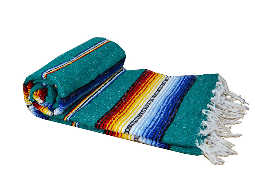 Mexican blanket - Falsa - XL - Green - MBXZZ0teal