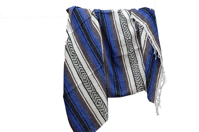 Mexican blanket - Falsa - L - Blue - MSAZZ0blu5