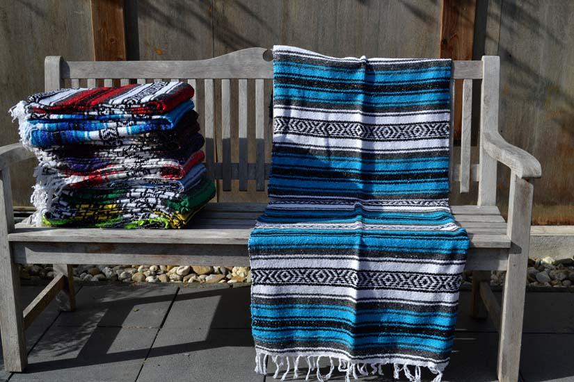 Mexican blanket - Falsa - L - Blue - MSAZZ0blu