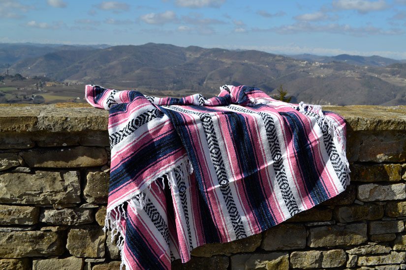 Mexican blanket,Falsa. Roze