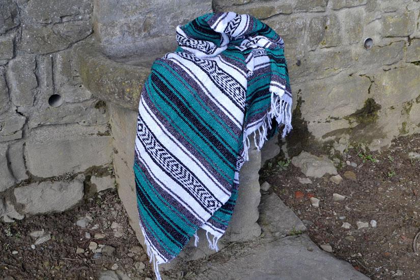 Mexican blanket,Falsa. Green