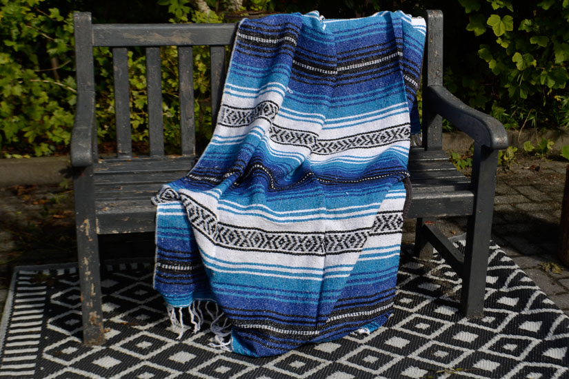Mexican blanket - Falsa - L - Blue