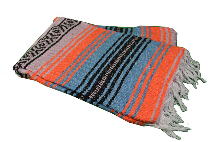 Mexican blanket - Falsa - L - Orange - MSXZZ0orangeblu