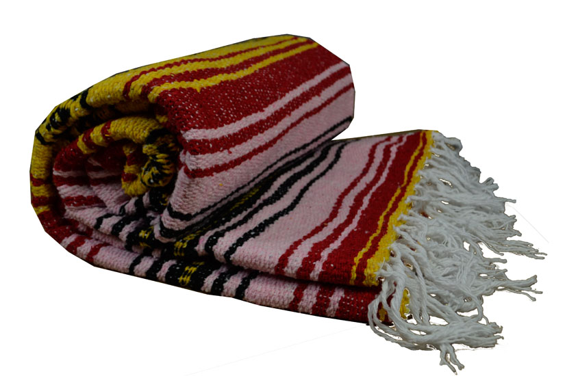 Mexican blanket - Falsa - L - Yellow - MSXZZ0yellowpink