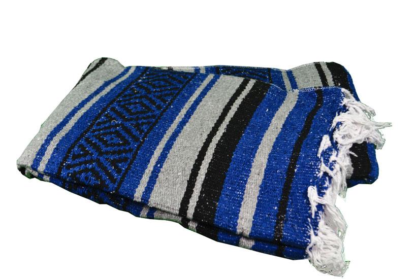 Mexicaanse deken - Falsa - L - Blauw - MTXZZ0blugrey