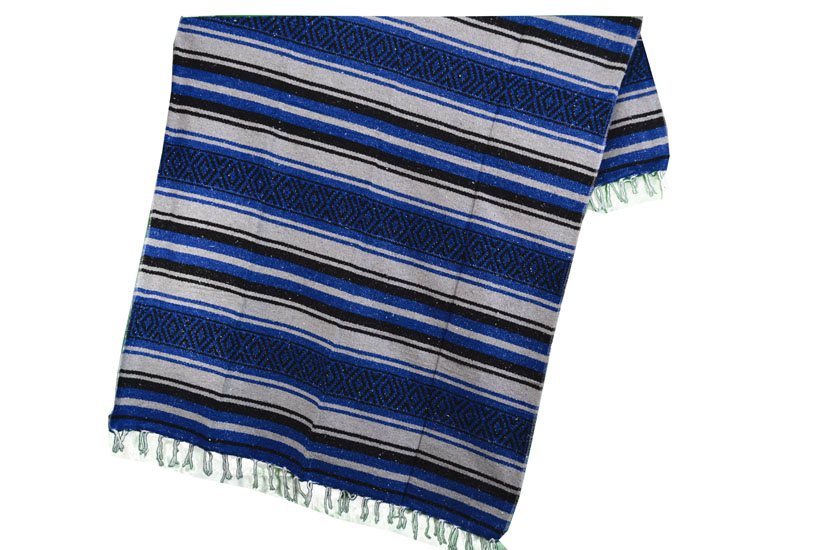 Mexikanische Decke -  Falsa - L - Blau  - MTXZZ0blugrey