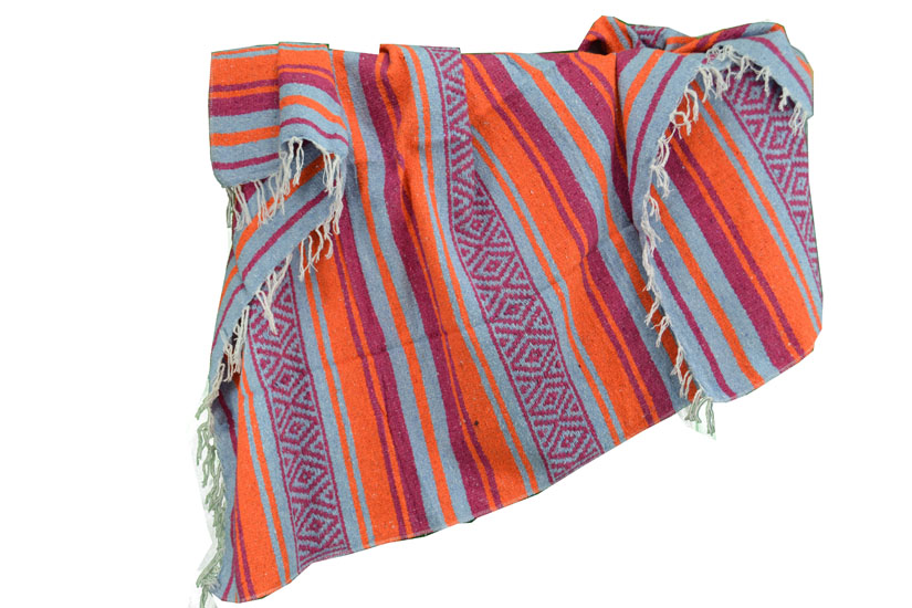 Mexican blanket - Falsa - L - Orange - MTXZZ0orangeblu