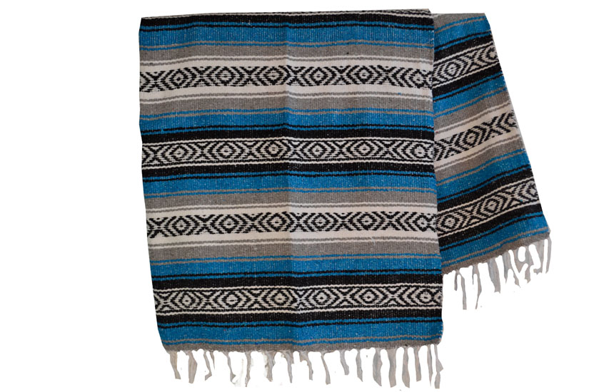 Mexican blanket - Falsa - XL - Turquoise