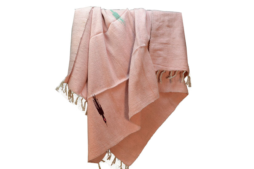 Mexican blanket - Solid - L - Pink