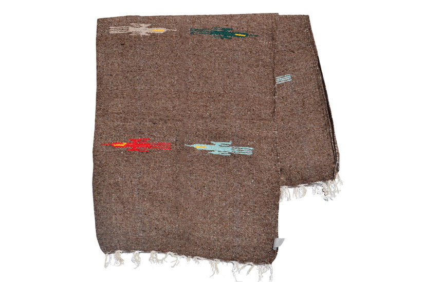 Mexican blanket - Solid - L - Brown - QEXZZ0brown