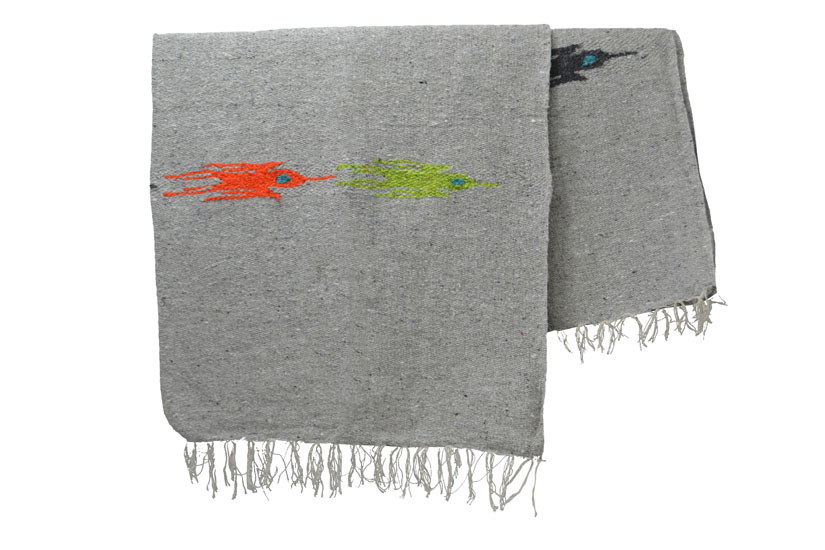 Mexican blanket - Solid - L - Grey