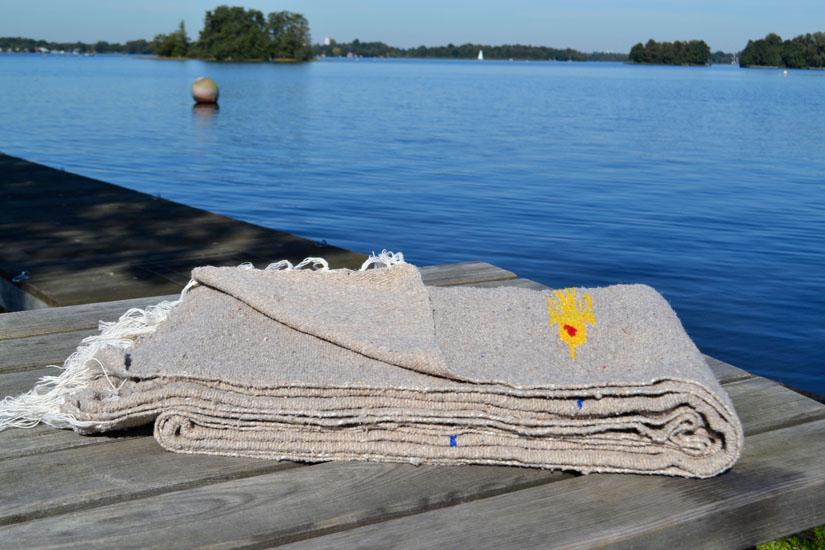 Decke -  Einfarbig - L - Braun