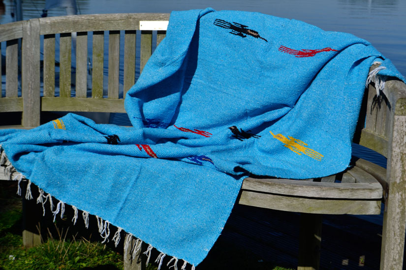 Mexican blanket - Solid - L - Turquoise