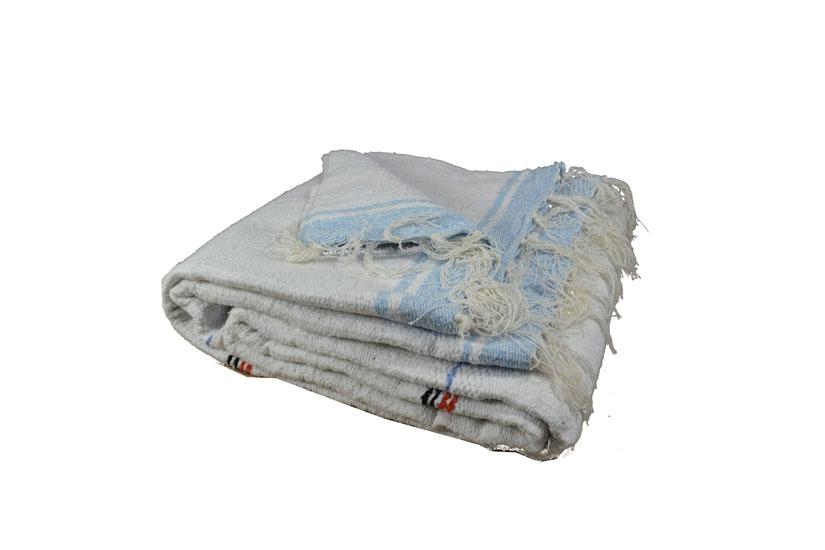Decke -  Einfarbig - L - Weiß  - QEXZZ0white
