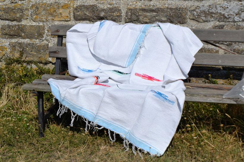 Mexicaanse deken - Effen - L - Wit - QEXZZ0white
