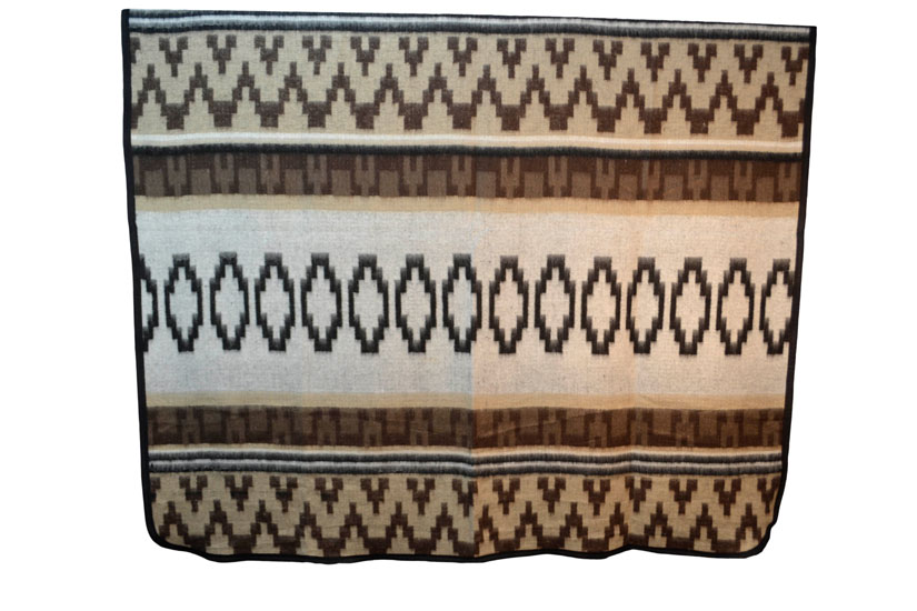 Couverture indienne + sangle -  Western - XL - Brun