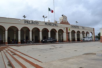 Chumayel. Gemeentehuis