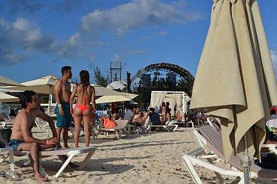 Strand van Playa del Carmen. Mexico. Quintana Roo.