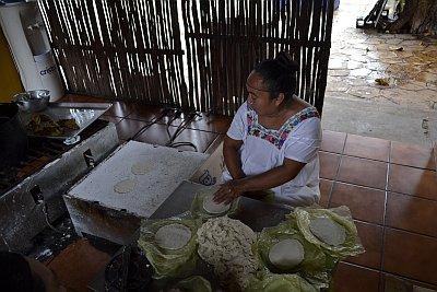 Un pasto a base di tortillas fresche