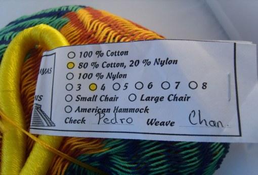 Amaca messicana con nome tessitrice